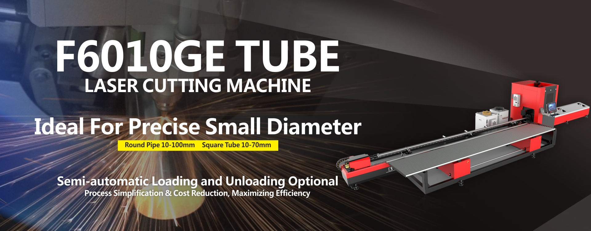 laser tube cutting machine for small tubes pipes