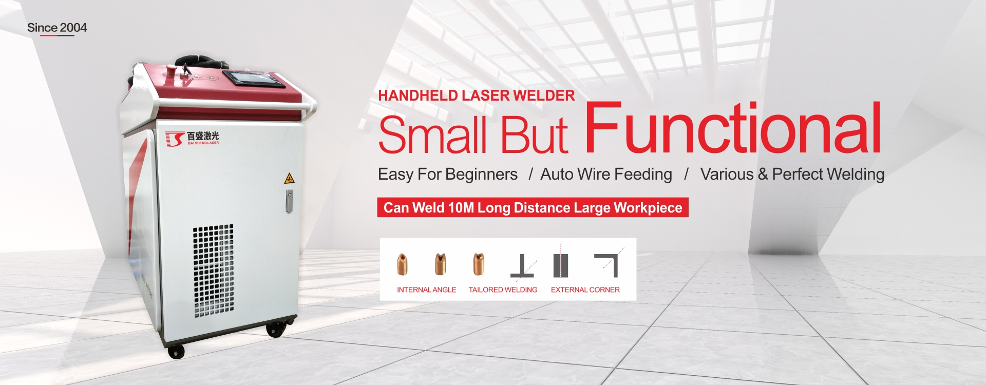 handheld laser welding machine with auto wire filling, weld stainless steel aluminum copper